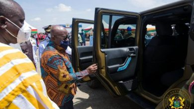 Photo of Akufo-Addo presents 50 vehicles to army; cuts sod for US$24.8 million housing project