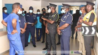 Photo of IGP Dampare arrives in Tamala over Walewale-Bolgatanga accident involving police officers