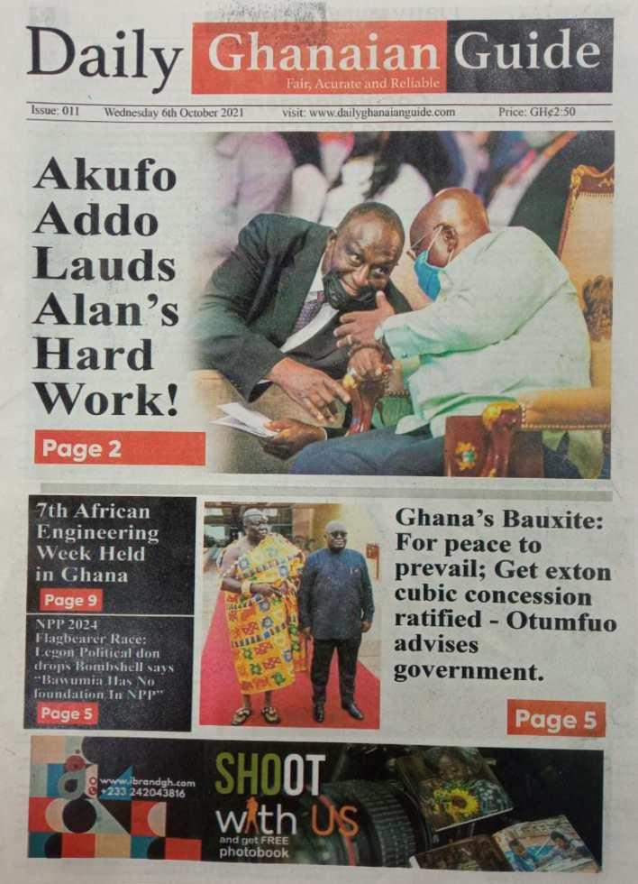 Newspaper Headline Of Thursday, October 7, 2021 1