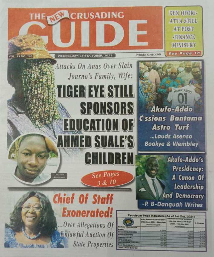 Newspaper Headline Of Wednesday, October 6, 2021 7
