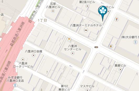 東京VIPラウンジへのアクセス地図