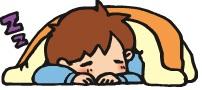 うつ伏せの状態で寝てもらいましょう