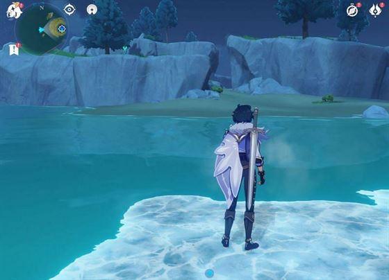 Kaeya может создать крио-мост для терпеливых игроков (Изображение через Sportskeeda)