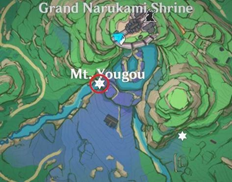 17 Electroculus над скалой на карте водопада