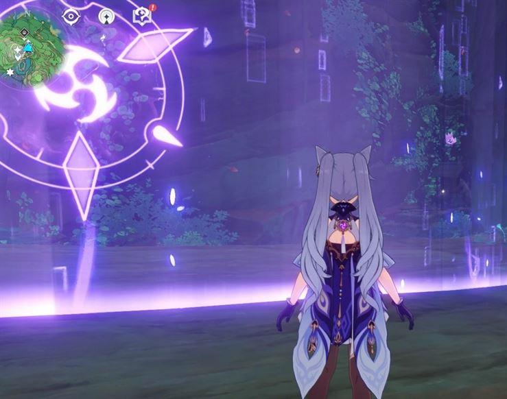 19 Electroculus над маленьким святилищем, запертым внутри барьера в игре