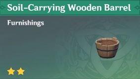 Деревянная бочка для грунта