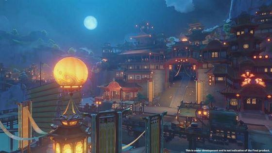 Гавань Лиюэ во время фестиваля Moonchase (Изображение через miHoYo)