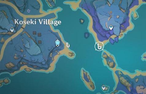 Место рыбалки к востоку от деревни Косеки