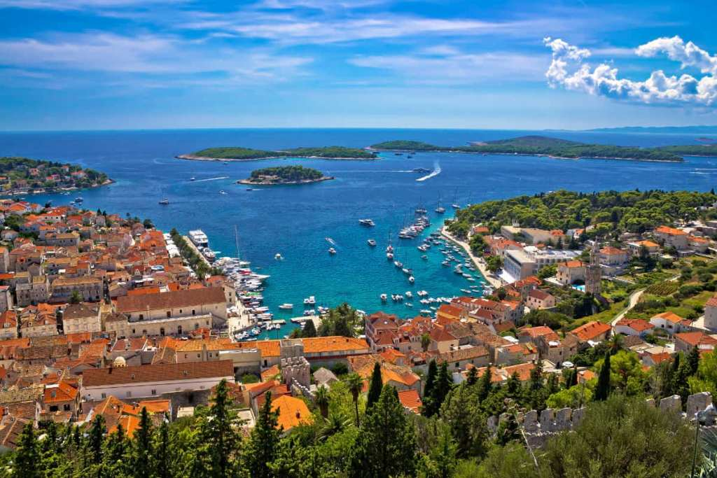 View of Hvar overlooking the sea