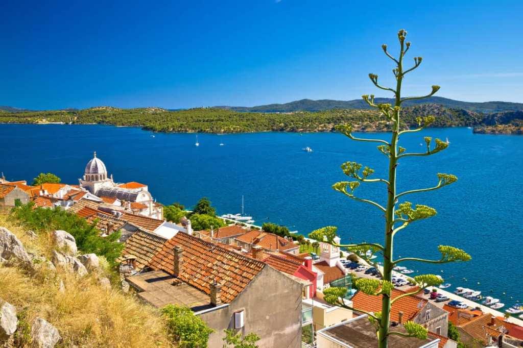 View of Sibenik overlooking the sea