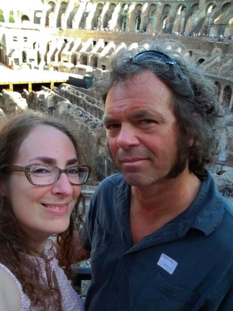 At the Colosseum on a dungeons tour