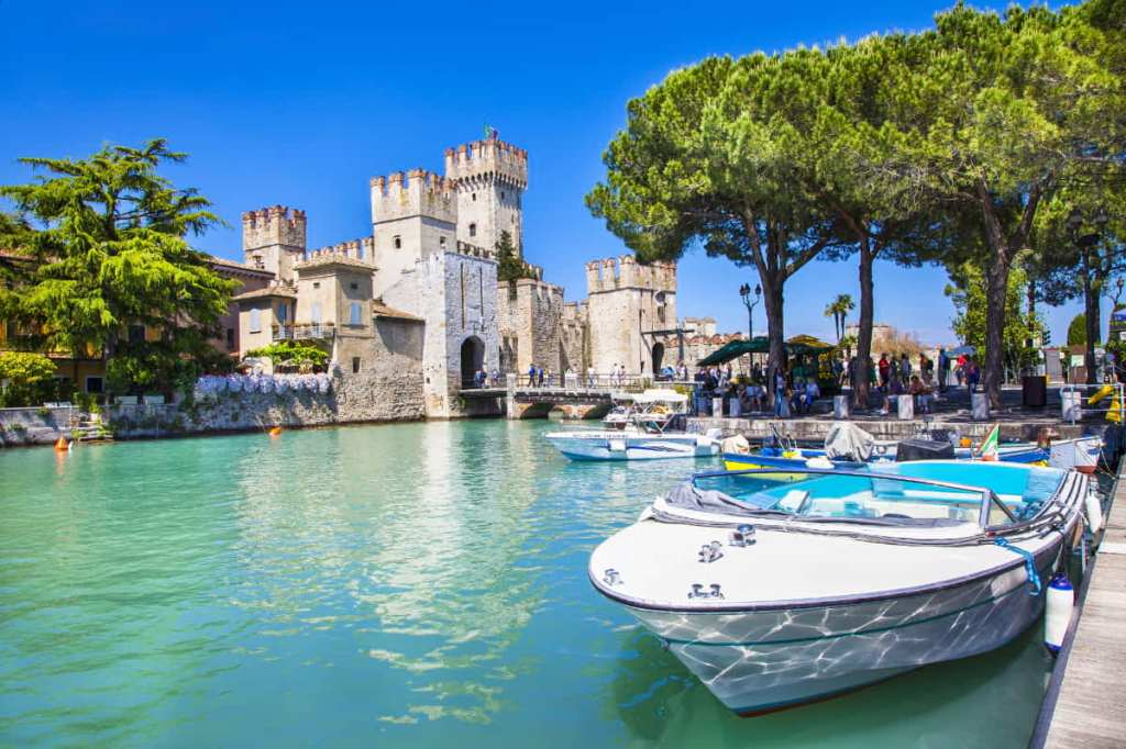 Most photographed places in Italy: the Port of Sirmione, Italy