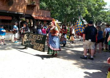 Start of the parade at the Bristol Renaissance Faire, Kenosha, Wisconsin