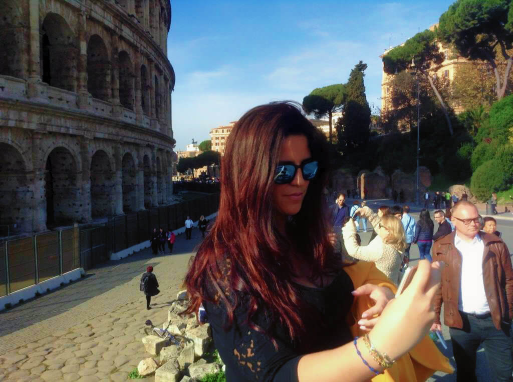 At the Colosseum in Rome