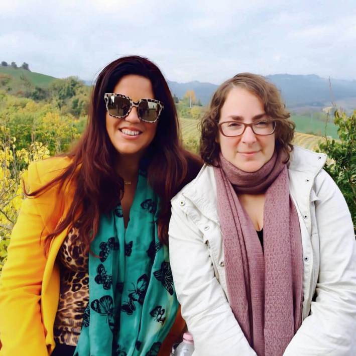 With Beth Rubin in Orvieto, Italy