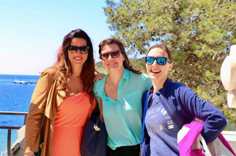 With Michaelanne Chapel, and Maja Gudelj in Mali Losinj