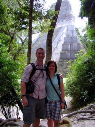 Visiting the Mayan ruins in Tikal, Guatemala