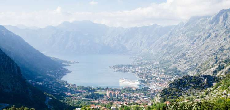 Overview of Montenegro's Kotor Bay