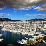 Scores of boats docked in Split's marina