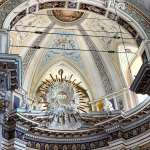Interior of the dome of the Noto Cathedral in Sicily