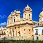 Outside of Noto cathedral, Noto, Sicily