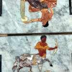 Marble mosaic from Villa Romana del Casale in Sicily