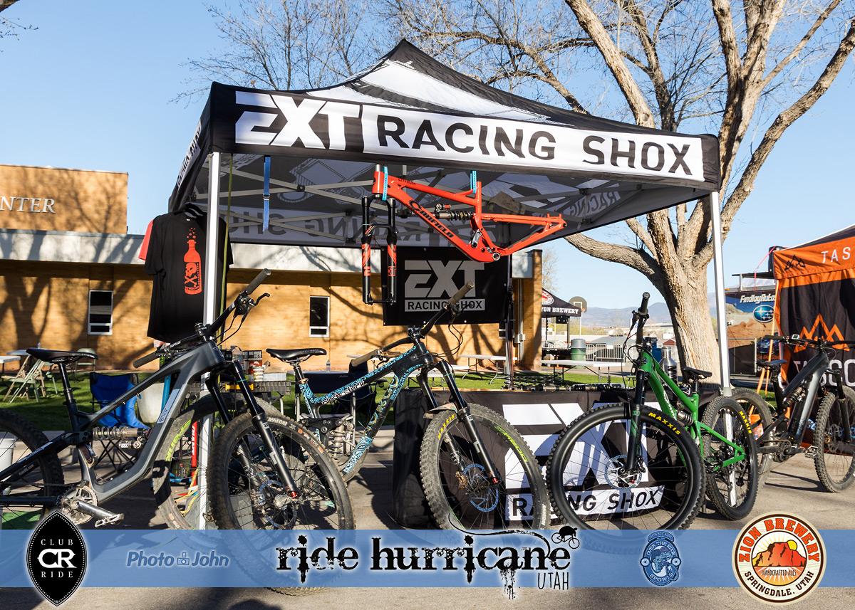 Mountain bike vendor booth at a mountain bike festival.