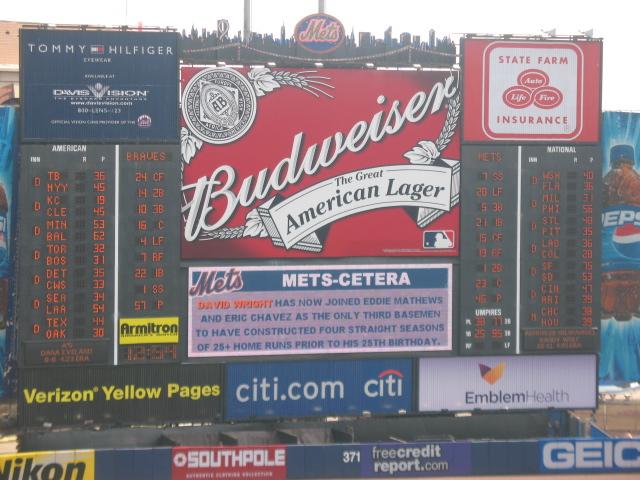 The big scoreboard is the best in baseball.