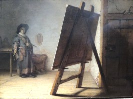 "Ready to paint you! Rembrandt van Rijn, ""Artist in his Studio,"" about 1628"