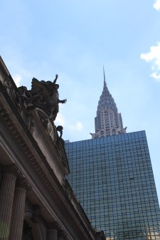 Grand Central Terminal and the Chrysler Building from an angle not usually accessible to pedestrians