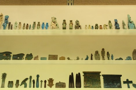 Shelf of Egyptian antiquities