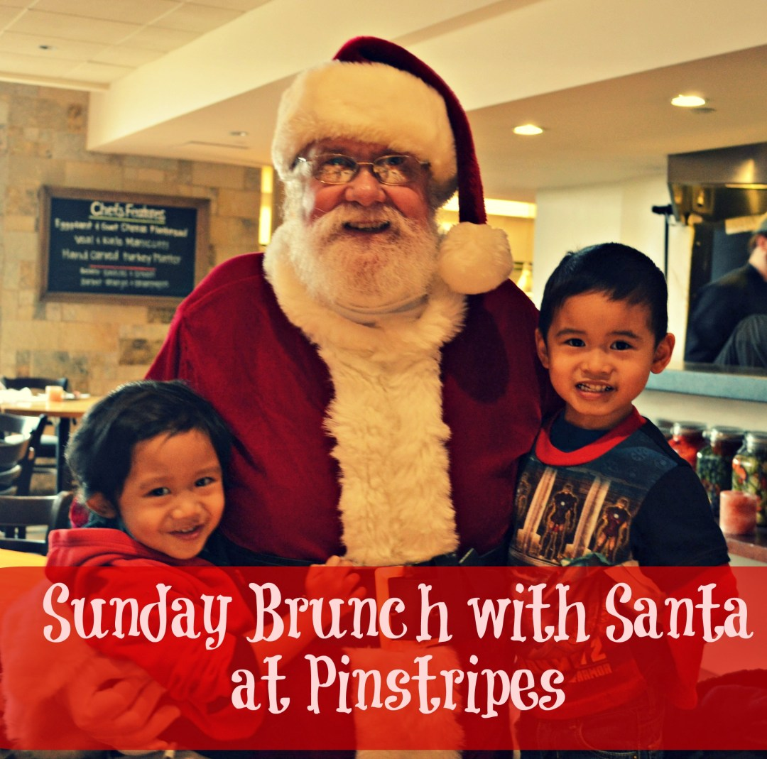 Holiday Family Fun Review: Sunday Brunch with Santa at Pinstripes #PintasticFun