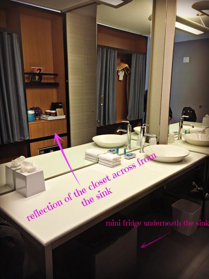 Aloft Chicago OHare Sink Closet Minifridge