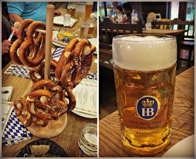 Hofbrauhaus Pretzels and Beer