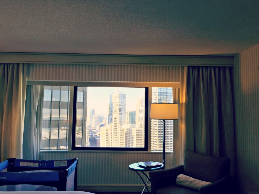 Swissotel Chicago Bedroom View