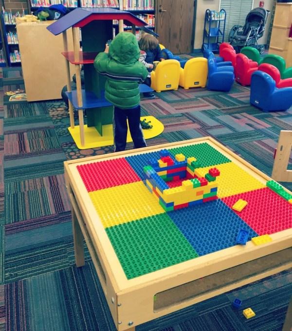 Elk Grove Library LEGO table