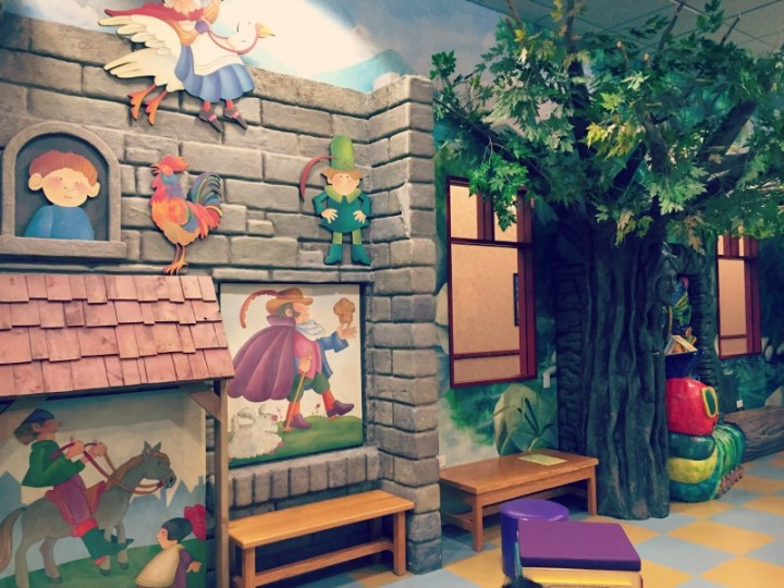 Schaumburg Library Enchanted Forest wall