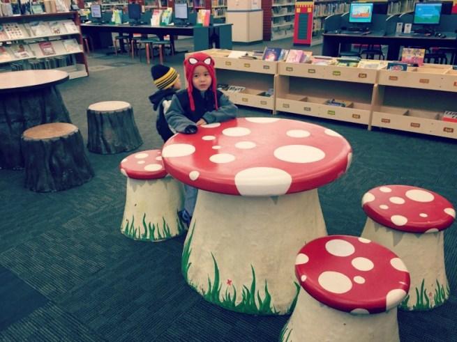 Schaumburg Library Mushroom Table