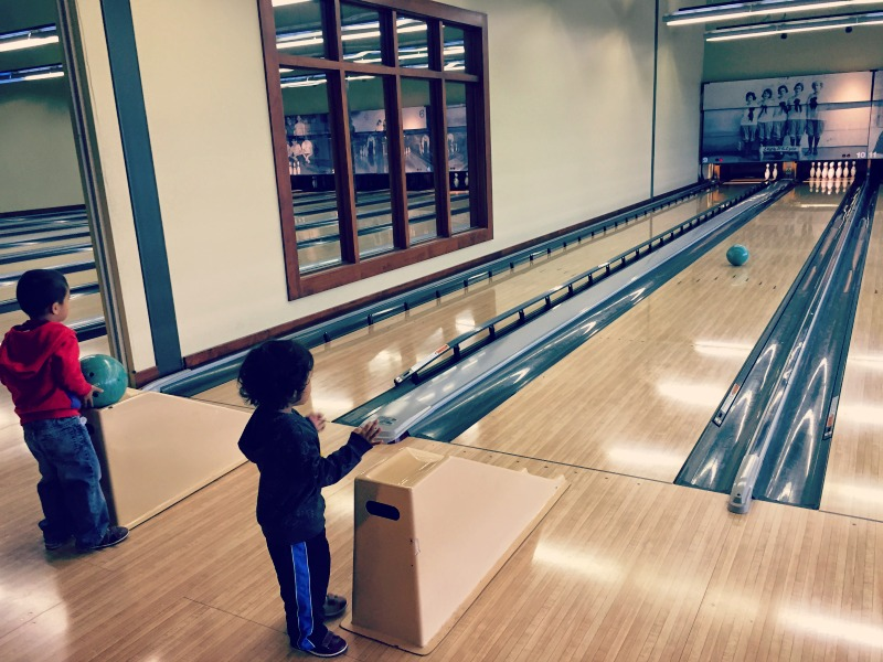 Pinstripes Tots Bowling is a fun way to introduce kids to bowling. Plus, the food is outstanding.
