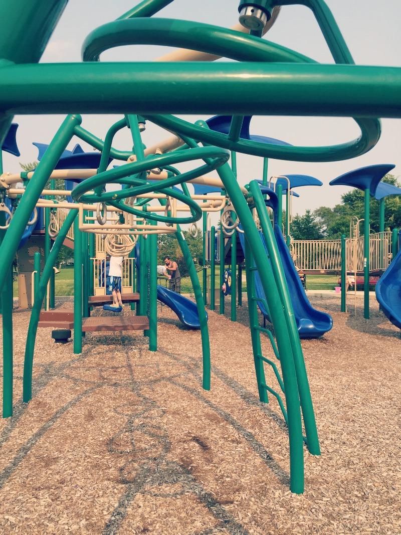 Fountain Square Park Elk Grove Village Playground Monkey Bars Older Kids