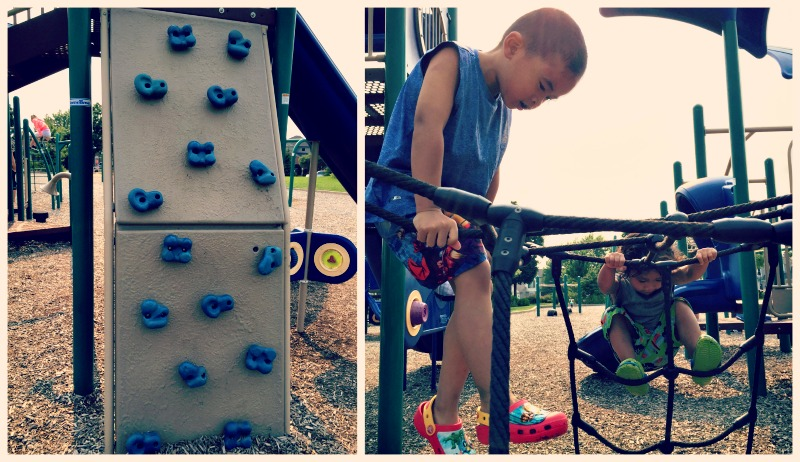 Fountain Square Park Elk Grove Village Playground Older Climbing