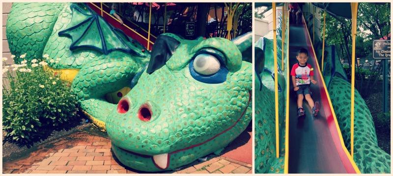 Pirates Cove Elk Grove Village Amusement Park Dragon Slide