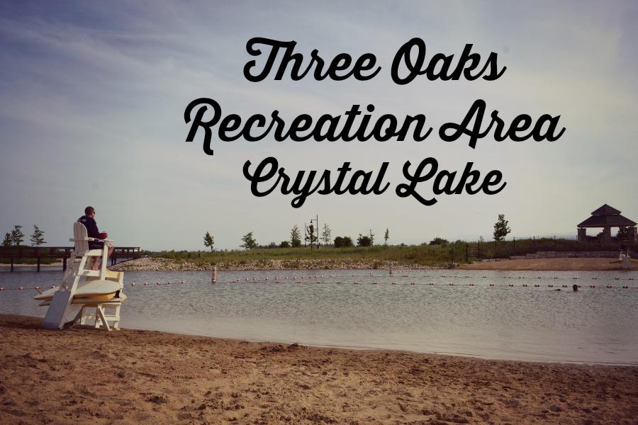 Three Oaks Recreation Area in Crystal Lake has a beach