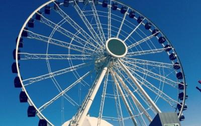 The new Centennial Wheel at Navy Pier Chicago