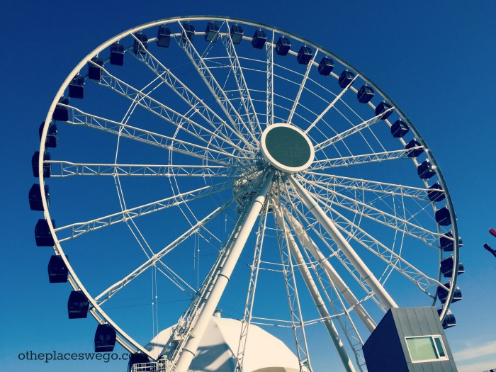 The new Centennial Wheel at Navy Pier Chicago