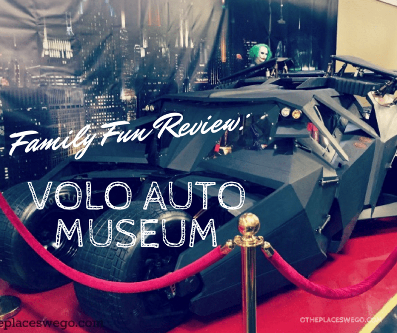 Family Fun including the Batmobile, Tumbler, and the Deloreanat the Volo Auto Museum in Volo, Illinois