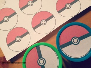 Pokemon Birthday Party - Pokeball Stickers