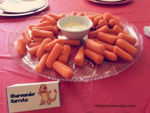 Pokemon Birthday Party - Carrots and Dip