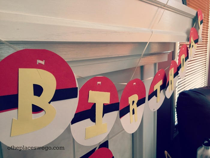 Pokemon Birthday Party - Pokeball Birthday Banner