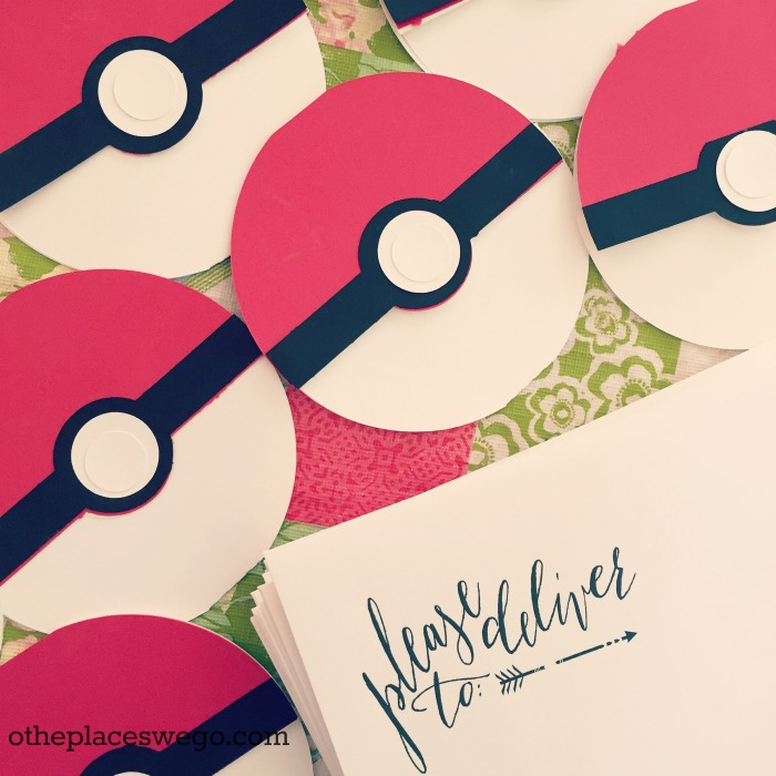 Pokemon Birthday Party - Pokeball Invitations